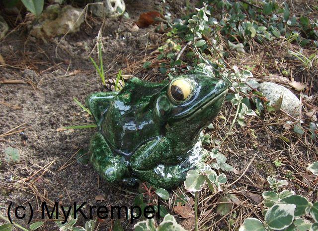 Figur frosch h bsch mykrempel for Frosch figur garten